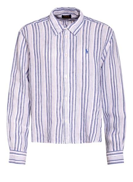 POLO RALPH LAUREN Hemdbluse aus Leinen, Farbe: WEISS/ HELLBLAU (Bild 1)