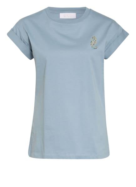 rich&royal T-Shirt mit Schmucksteinbesatz, Farbe: HELLBLAU (Bild 1)