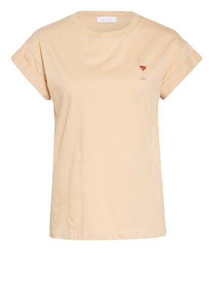 rich&royal T-Shirt mit Schmucksteinbesatz, Farbe: HELLBRAUN (Bild 1)