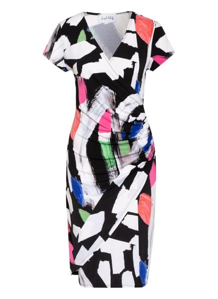 Joseph Ribkoff Kleid in Wickeloptik, Farbe: SCHWARZ/ WEISS/ PINK (Bild 1)