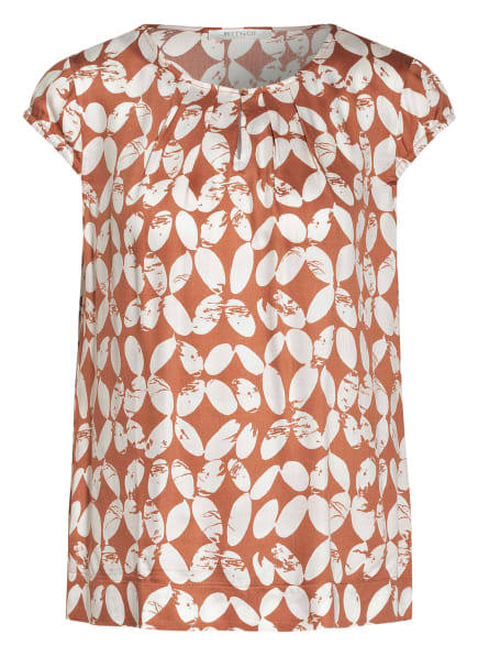 BETTY&CO Blusenshirt, Farbe: WEISS/ BRAUN (Bild 1)