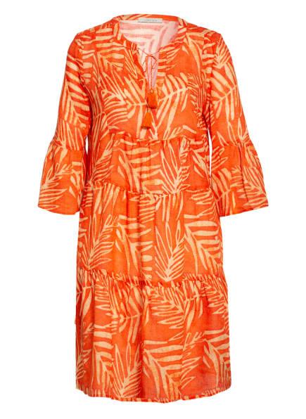 lilienfels Leinenkleid mit 3/4-Arm, Farbe: ORANGE/ HELLORANGE (Bild 1)