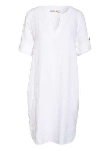 lilienfels Leinenkleid mit 3/4-Arm, Farbe: WEISS (Bild 1)