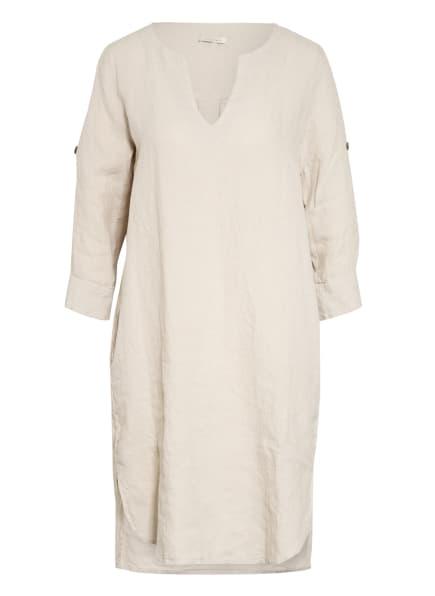 lilienfels Leinenkleid mit 3/4-Arm, Farbe: BEIGE/ GRAU (Bild 1)
