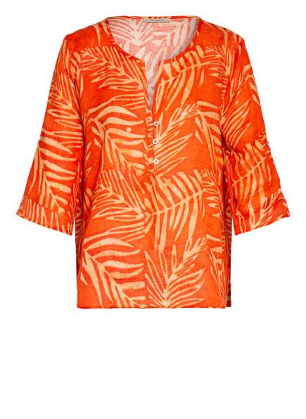 lilienfels Blusenshirt aus Leinen, Farbe: HELLROT/ ORANGE (Bild 1)