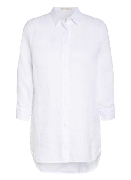 lilienfels Hemdbluse aus Leinen mit 3/4-Arm, Farbe: WEISS (Bild 1)