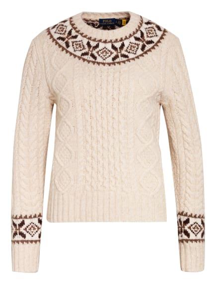 POLO RALPH LAUREN Pullover, Farbe: CREME/ BRAUN (Bild 1)