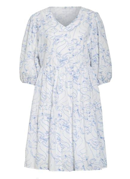 Marc O'Polo DENIM Kleid mit 3/4-Arm, Farbe: WEISS/ BLAU (Bild 1)