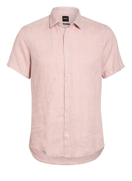 BOSS Kurzarm-Hemd RASH Regular Fit aus Leinen, Farbe: HELLROSA (Bild 1)