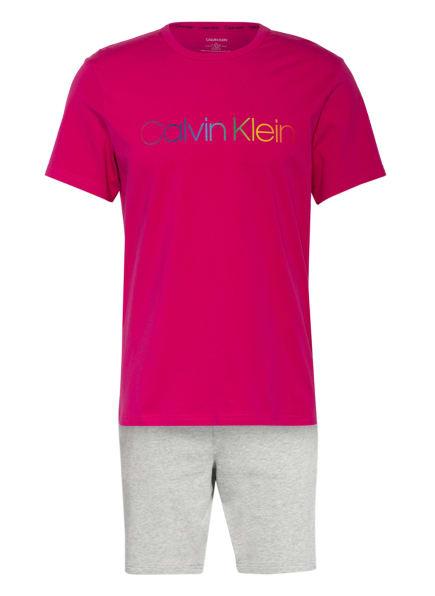 Calvin Klein Shorty-Schlafanzug PRIDE, Farbe: NEONPINK/ HELLGRAU/ GRAU (Bild 1)