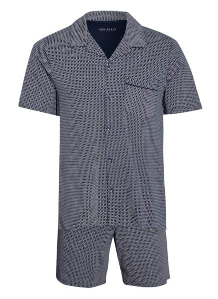 SCHIESSER Shorty-Schlafanzug TIMELESS, Farbe: DUNKELBLAU/ WEISS (Bild 1)
