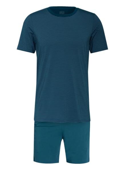 SCHIESSER Shorty-Schlafanzug LONG LIFE SOFT , Farbe: PETROL/ CREME (Bild 1)