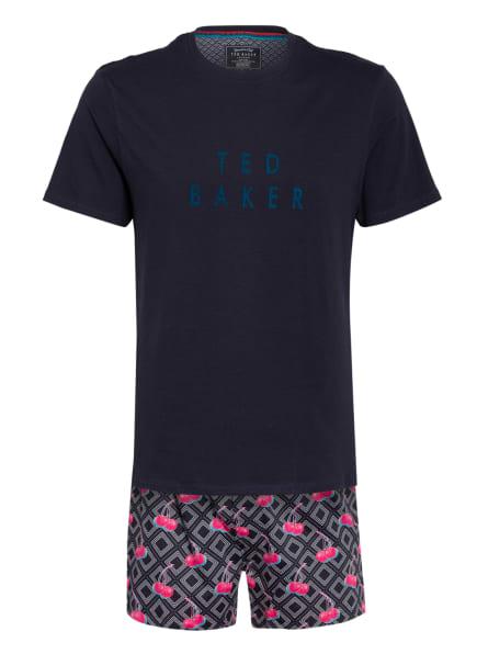 TED BAKER Shorty-Schlafanzug in Geschenkbox, Farbe: DUNKELBLAU/ WEISS/ PINK (Bild 1)