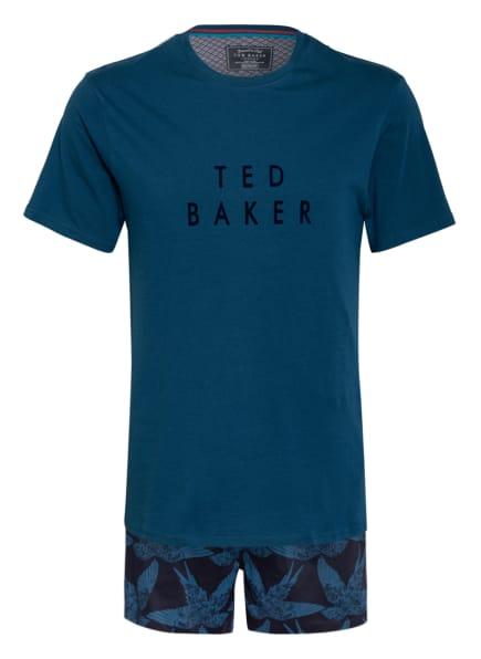 TED BAKER Shorty-Schlafanzug in Geschenkbox, Farbe: DUNKELBLAU/ BLAU (Bild 1)