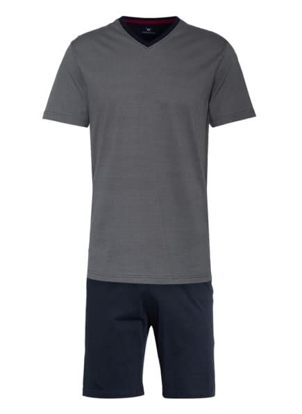 STROKESMAN'S Shorty-Schlafanzug, Farbe: DUNKELBLAU/ HELLGRAU (Bild 1)