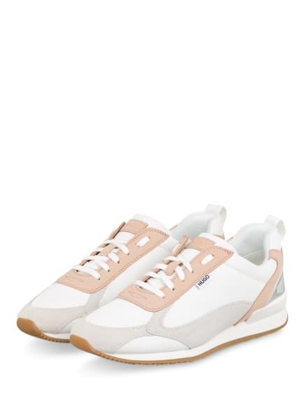 HUGO Plateau-Sneaker JAMIE, Farbe: WEISS/ HELLORANGE/ CREME (Bild 1)