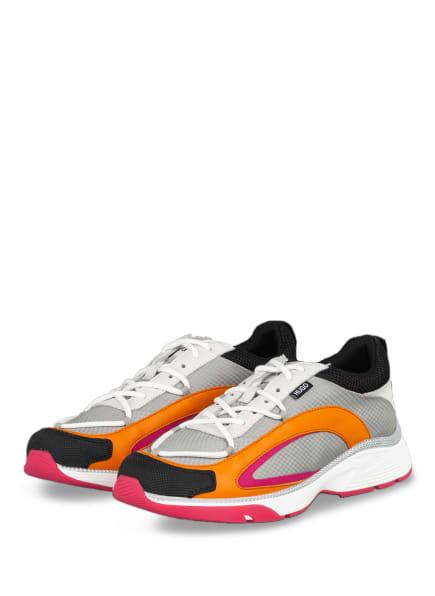 HUGO Plateau-Sneaker GILDA RUNN, Farbe: ORANGE/ GRAU/ PINK (Bild 1)
