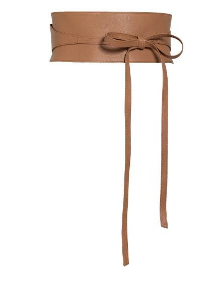 abro Taillengürtel aus Leder, Farbe: CAMEL (Bild 1)
