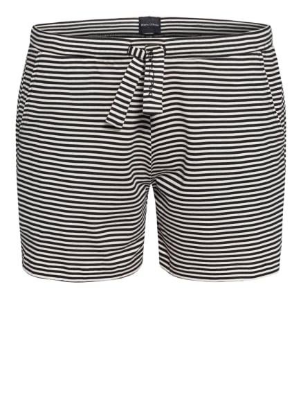 Marc O'Polo Lounge-Shorts, Farbe: SCHWARZ/ WEISS (Bild 1)