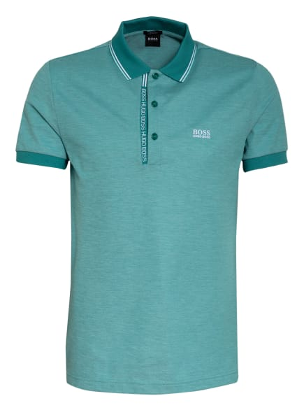 BOSS Piqué-Poloshirt PAULE Slim Fit, Farbe: TÜRKIS (Bild 1)