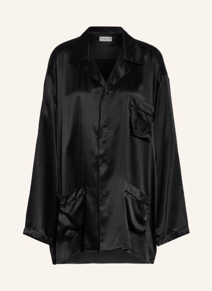 BALENCIAGA Oversized-Bluse aus Seide, Farbe: SCHWARZ (Bild 1)