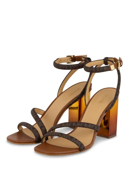 MICHAEL KORS Sandaletten HAZEL, Farbe: 227 BROWN/ LUGGAGE W/ 18K (Bild 1)