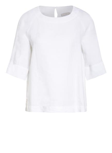 ANTONELLI firenze Hemdbluse CARMENCITA aus Leinen, Farbe: WEISS (Bild 1)