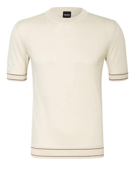 BOSS Strickshirt HORELLI , Farbe: CREME/ DUNKELROT (Bild 1)