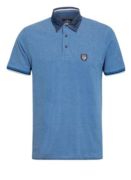 RAGMAN Piqué-Poloshirt, Farbe: WEISS/ BLAU (Bild 1)
