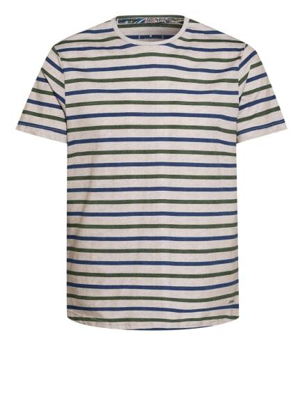 RAGMAN T-Shirt, Farbe: BEIGE/ DUNKELGRÜN/ BLAU (Bild 1)
