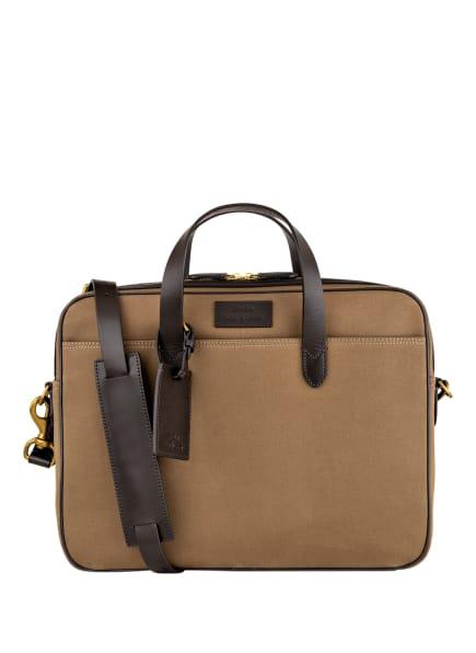 POLO RALPH LAUREN Business-Tasche , Farbe: KHAKI/ DUNKELBRAUN (Bild 1)