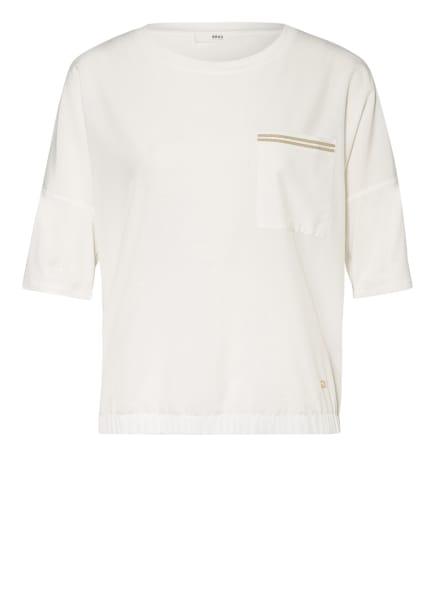 BRAX T-Shirt CANDICE im Materialmix, Farbe: WEISS (Bild 1)