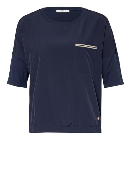 BRAX T-Shirt CANDICE im Materialmix, Farbe: BLAU (Bild 1)