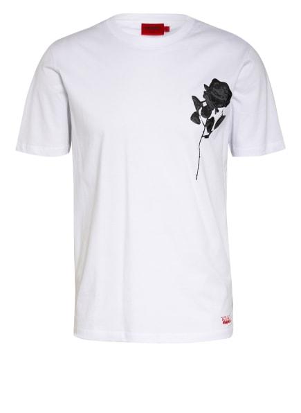 HUGO T-Shirt DRINCE, Farbe: WEISS/ SCHWARZ/ GRAU (Bild 1)