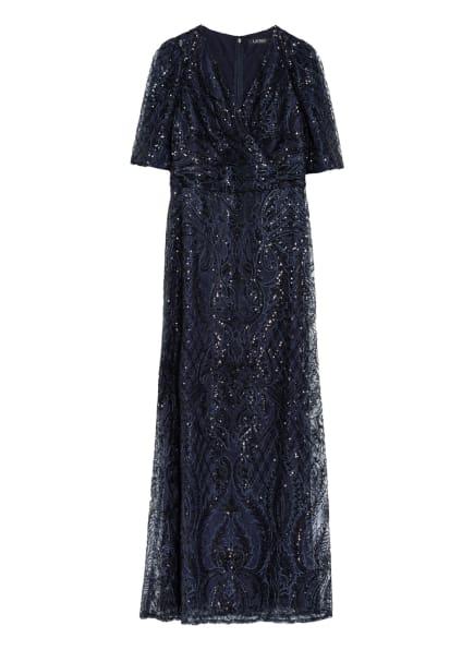 LAUREN RALPH LAUREN Abendkleid DENITA mit Paillettenbesatz, Farbe: DUNKELBLAU (Bild 1)