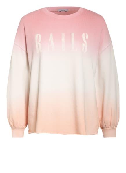 Rails Sweatshirt SIGNATURE, Farbe: HELLORANGE/ CREME/ ROSA (Bild 1)