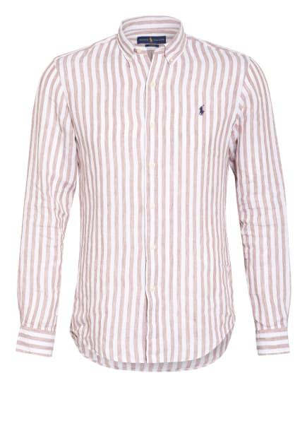 POLO RALPH LAUREN Leinenhemd Sim Fit, Farbe: WEISS/ CAMEL (Bild 1)