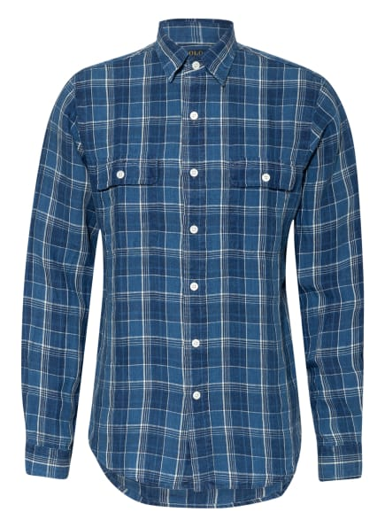 POLO RALPH LAUREN Leinenhemd Classic Fit, Farbe: DUNKELBLAU/ WEISS/ BLAU (Bild 1)