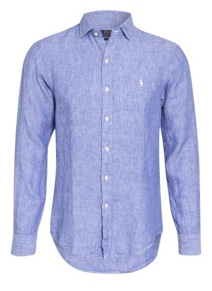 POLO RALPH LAUREN Leinenhemd Slim Fit , Farbe: BLAU (Bild 1)