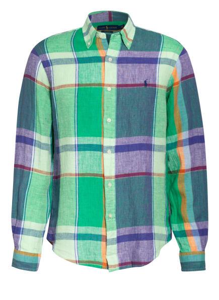 POLO RALPH LAUREN Leinenhemd Custom Fit, Farbe: 003 4764 GREEN/BLUE MULTI (Bild 1)