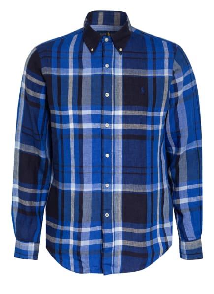 POLO RALPH LAUREN Leinenhemd Custom Fit, Farbe: BLAU/ DUNKELBLAU/ SCHWARZ (Bild 1)
