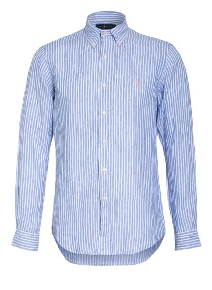 POLO RALPH LAUREN Leinenhemd Custom Fit, Farbe: HELLBLAU/ WEISS (Bild 1)