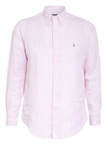 POLO RALPH LAUREN Leinenhemd Custom Fit, Farbe: WEISS/ ROSA (Bild 1)