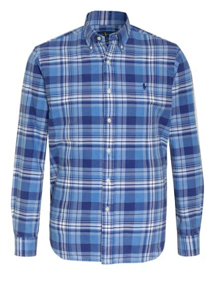 POLO RALPH LAUREN Hemd Custom Fit, Farbe: WEISS/ BLAU/ HELLBLAU (Bild 1)