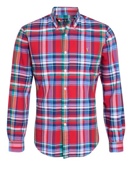 POLO RALPH LAUREN Hemd Custom Fit, Farbe: BLAU/ ROT/ GRÜN (Bild 1)