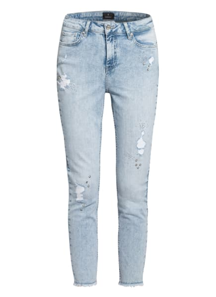 monari 7/8-Jeans mit Schmucksteinbesatz, Farbe: 750 jeans (Bild 1)
