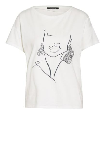 comma T-Shirt mit Schmucksteinbesatz, Farbe: WEISS (Bild 1)