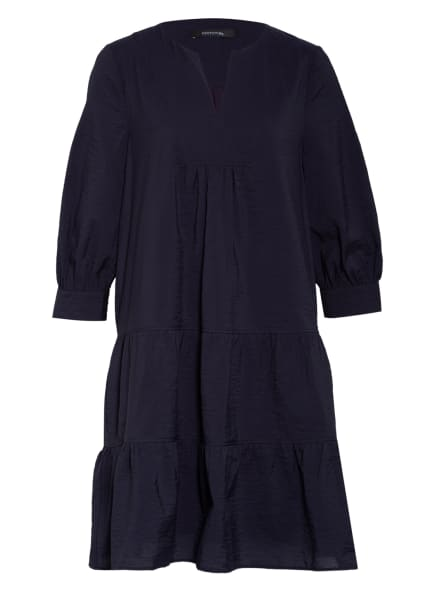 comma Kleid mit 3/4-Arm, Farbe: DUNKELBLAU (Bild 1)
