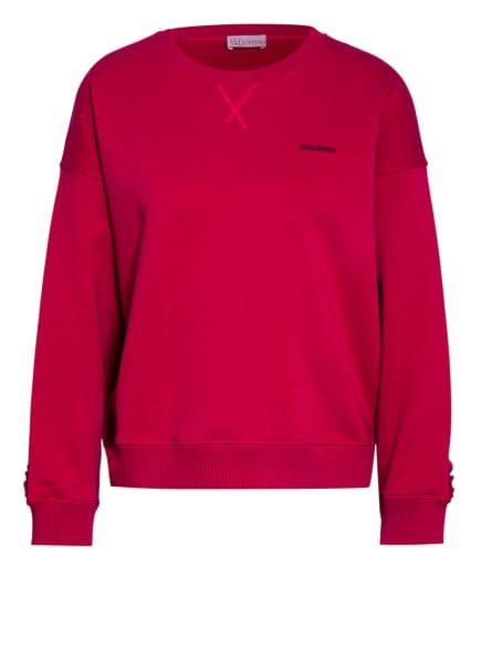 RED VALENTINO Sweatshirt mit Rüschenbesatz, Farbe: FUCHSIA (Bild 1)