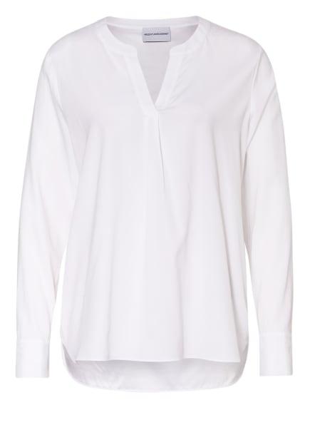 herzensangelegenheit Blusenshirt aus Seide, Farbe: WEISS (Bild 1)